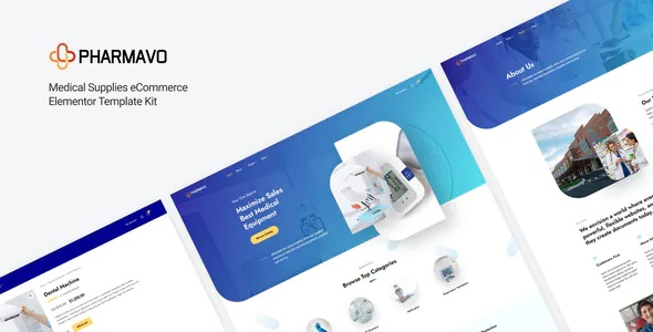 Best Medical Supplies eCommerce Elementor Template Kit