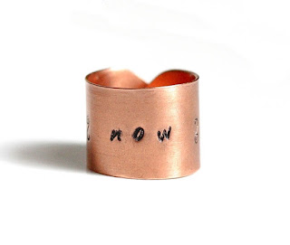 Now Word ring, Inspiration Ring Size 8.0
