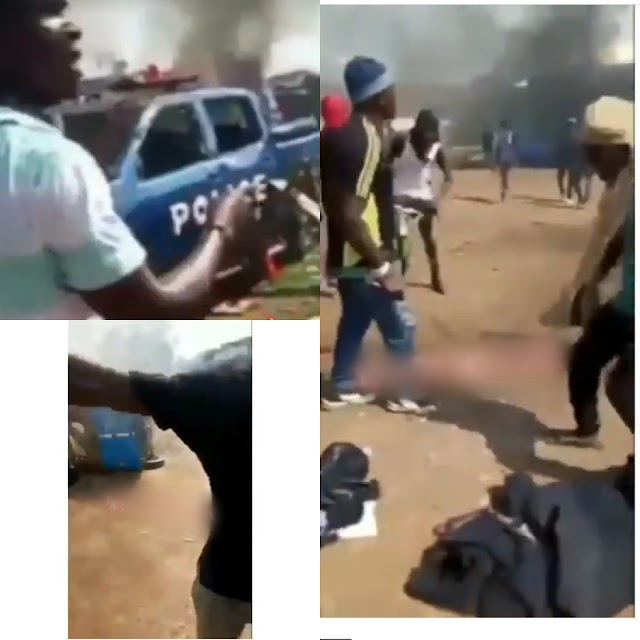 Hoodlums burn down a police station in Ebonyi. VIDEO