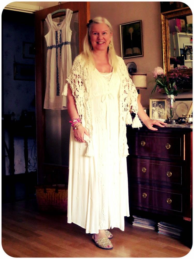 stickad klänning lindex