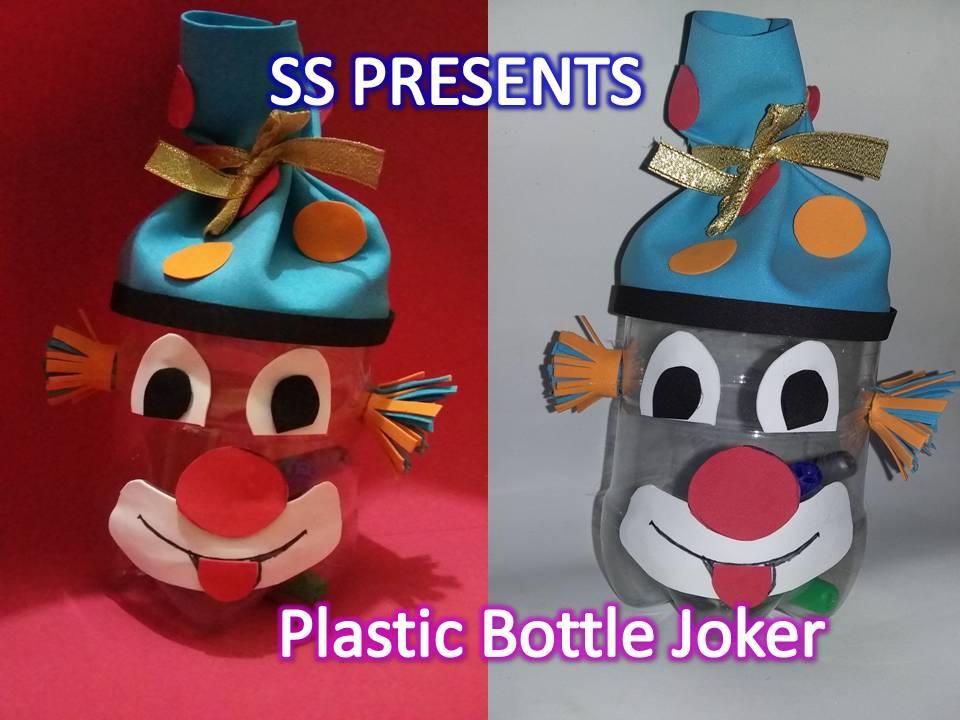 plastic bottle gift box(joker face)