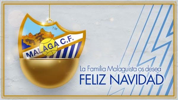 El Málaga desea una Navidad blanquiazul