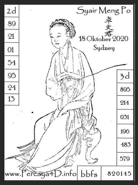 Kode syair Sydney Minggu 18 Oktober 2020 167