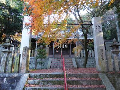 四條畷市 御机神社(みつくえじんじゃ)の紅葉