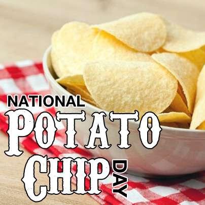 National Potato Chip Day Wishes Pics