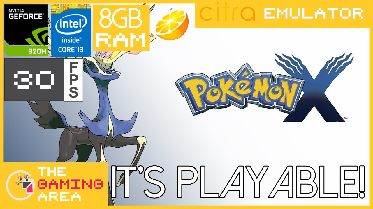 Pokemon X and Y Citra Emulator on Low Specs Laptop ~ The