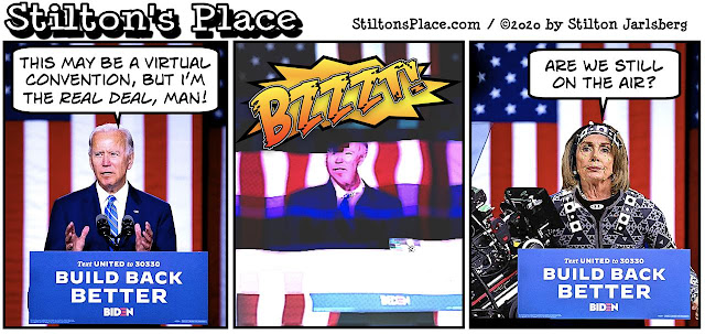 stilton's place, stilton, political, humor, conservative, cartoons, jokes, hope n' change, democrats, convention, biden, pelosi, michelle obama