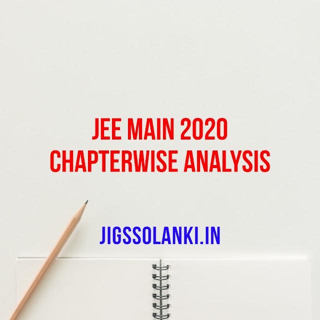 JEE MAIN 2020 CHAPTERWISE ANALYSIS