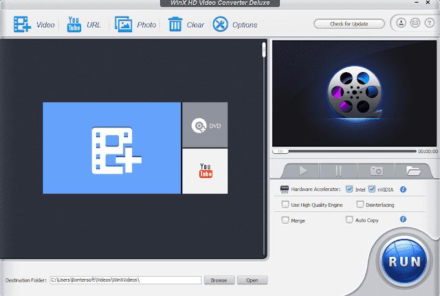 Screenshot WinX HD Video Converter Deluxe 5.15.4 Full Version