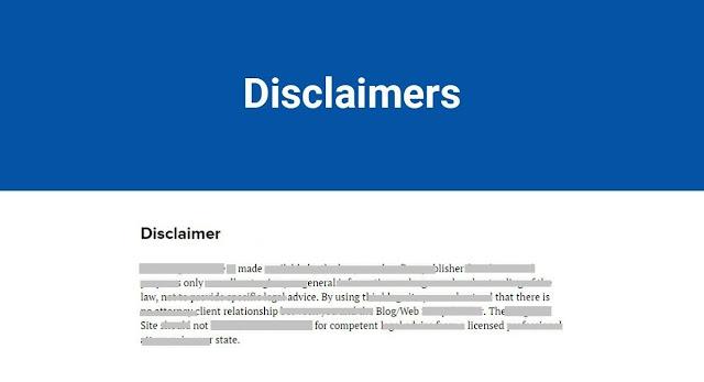 Cara Buat Disclaimer Blogger Malaysia