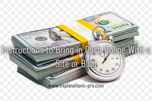Instructions to Bring in Cash Online With a Site or Blog
