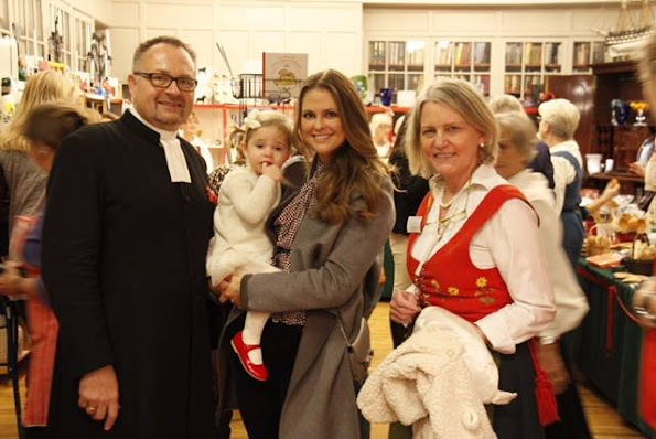 Princess Madeleine of Sweden and Princess Leonor of Sweden visited the Christmas Fair at the Swedish Church in London