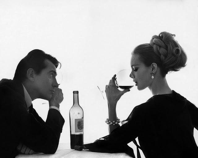 1962. Monique Chevalier and Walter Chiari by Bert Stern