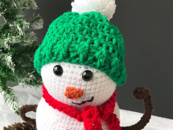 Snowman Amigurumi Crochet Pattern - Crochet Along Part 2