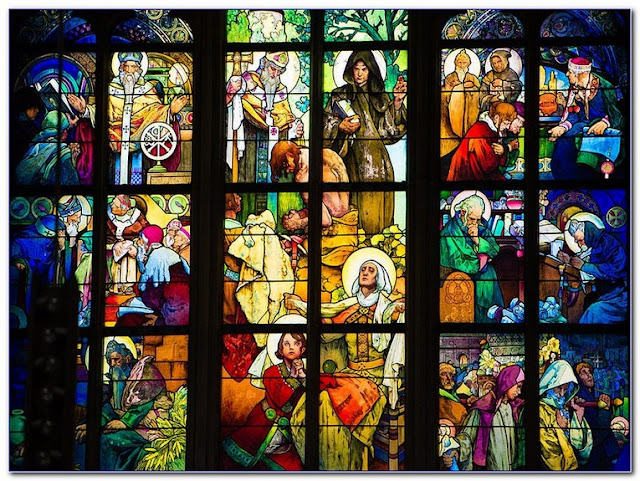 Religious Stained GLASS WINDOW Film for sale