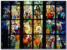 Religious Stained GLASS WINDOW Film