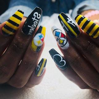 Steelers Nail Designs