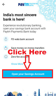 how to open paytm payment bank account online in hindi