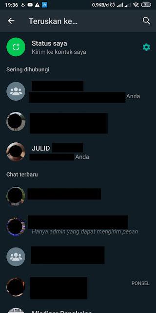 Cara Menghilangkan Sering Dihubungi di Whatsapp 2