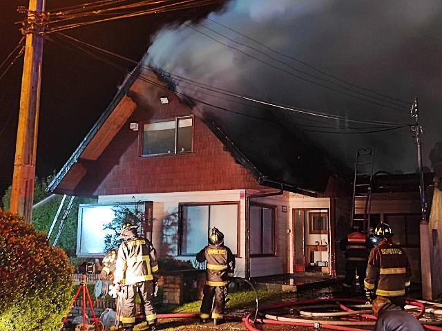Incendio en Villa Las Encinas de Pilauco