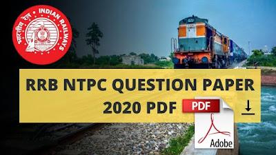 RRB NTPC Question Paper 2020 PDF