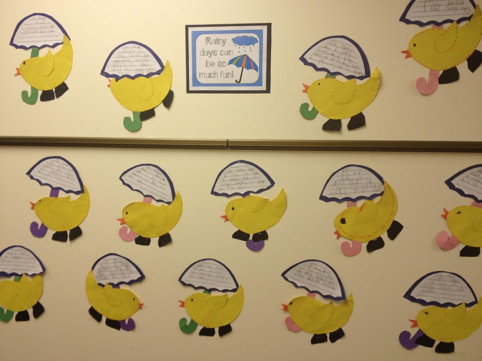 Mrs Hodge And Her Kindergarten Kids Quack Quack A Rainy Day Craft
