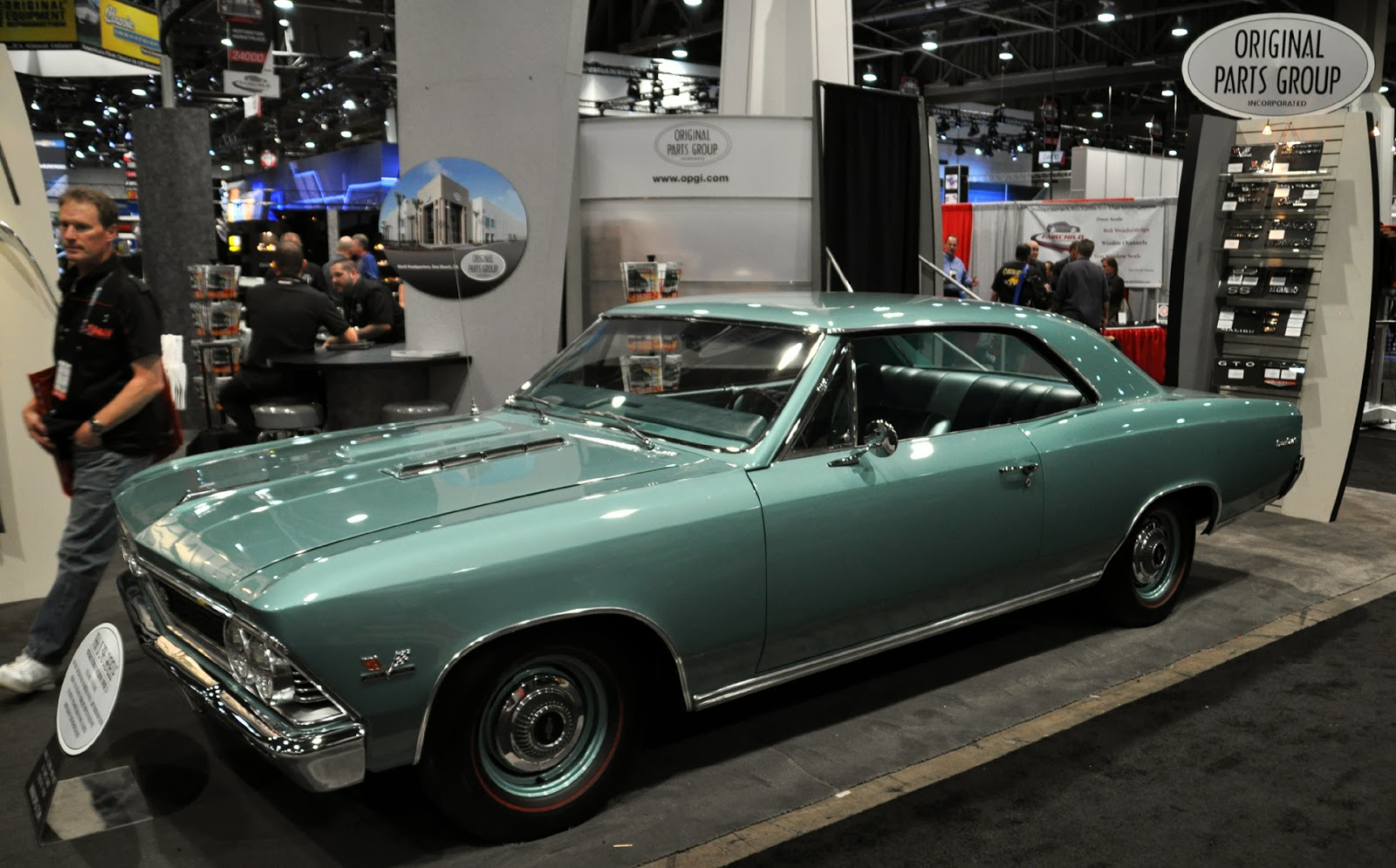Just A Car Guy: Original Parts Group had this sweet 66 Chevelle in
