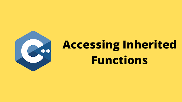 HackerRank Accessing Inherited Functions solution in c++ programming