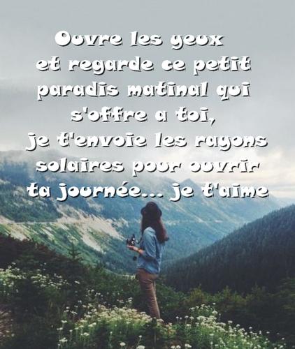 Amour message matin Petit Mot
