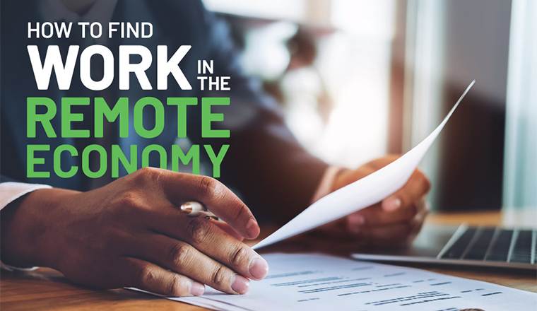 How To Find Work In The Remote Economy #infographic
