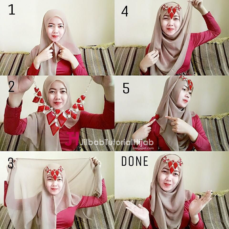 15 Video Tutorial Hijab Pesta Glamor Tutorial Hijab Terbaru