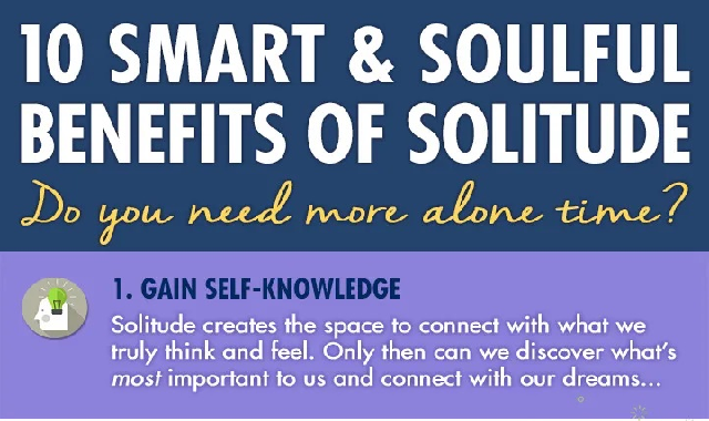10 Smart & Soulful Benefits of Solitude #infographic
