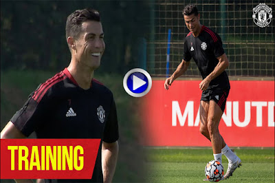 Cristiano Ronaldo Flaunts His Skills With the Ball During Manchester United Practice Session (Watch Video)