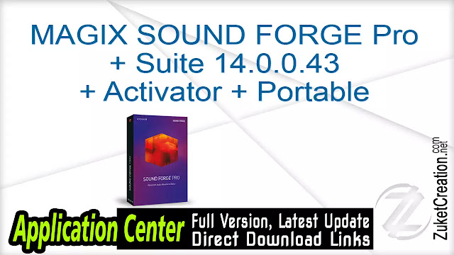 MAGIX SOUND FORGE Pro + Suite 14.0.0.43 + Activator + Portable