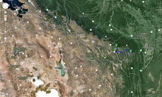 Trajeto detalhado de Samaipata/Bolívia a Comarapa/Bolívia - 171 km.