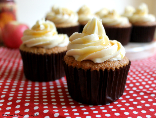 Cider cupcakes with toffee frosting from Penne For Your Thoughts