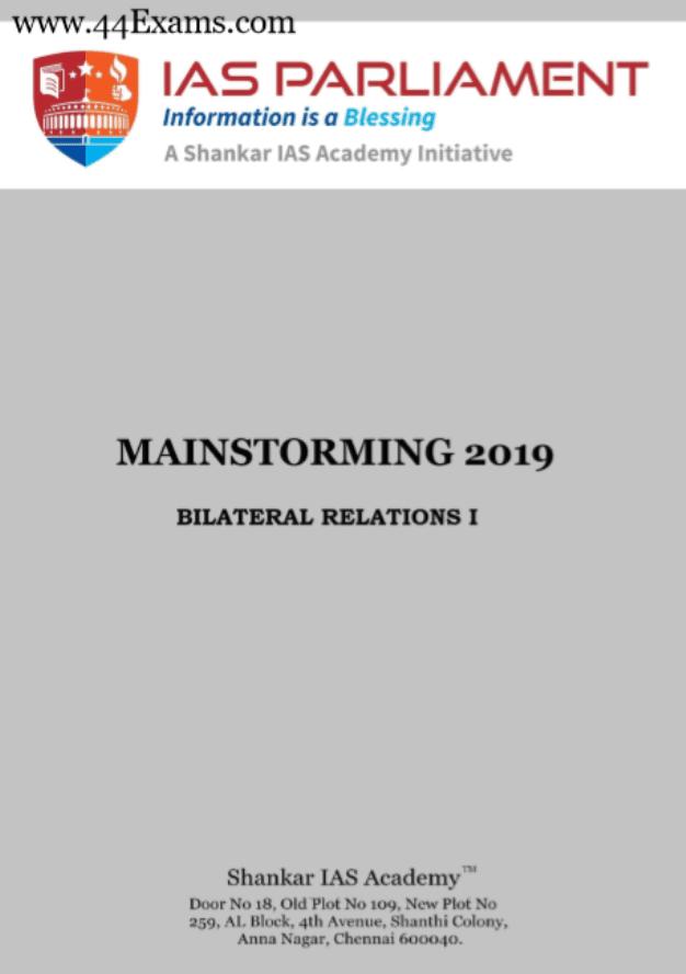 Shankar-IAS-Bilateral-Relations-2019-For-UPSC-Mainstorming-PDF-Book