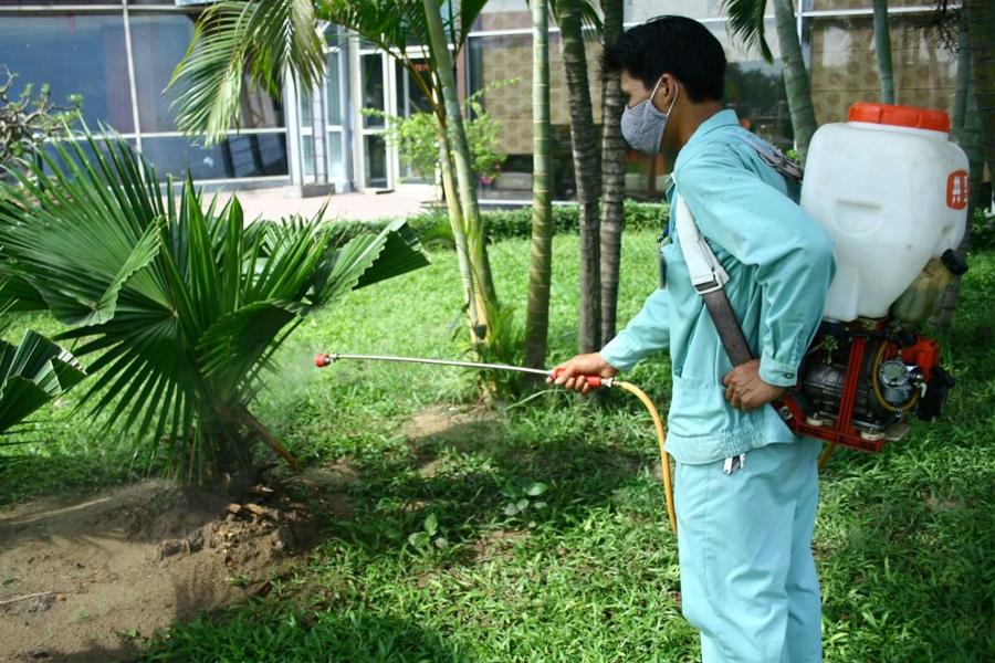 Phun muỗi tại huyện Thanh Trì