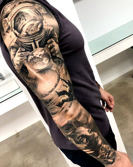 Space Tattoo Sleeve for men