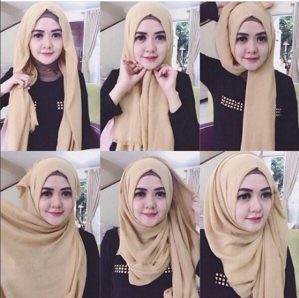 Cara Memakai Hijab Pashmina Saudia Rawis