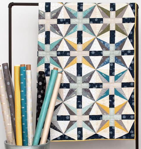 Starry Night Quilt Free Pattern Designed by Janice Zeller Ryan for Robert Kaufman