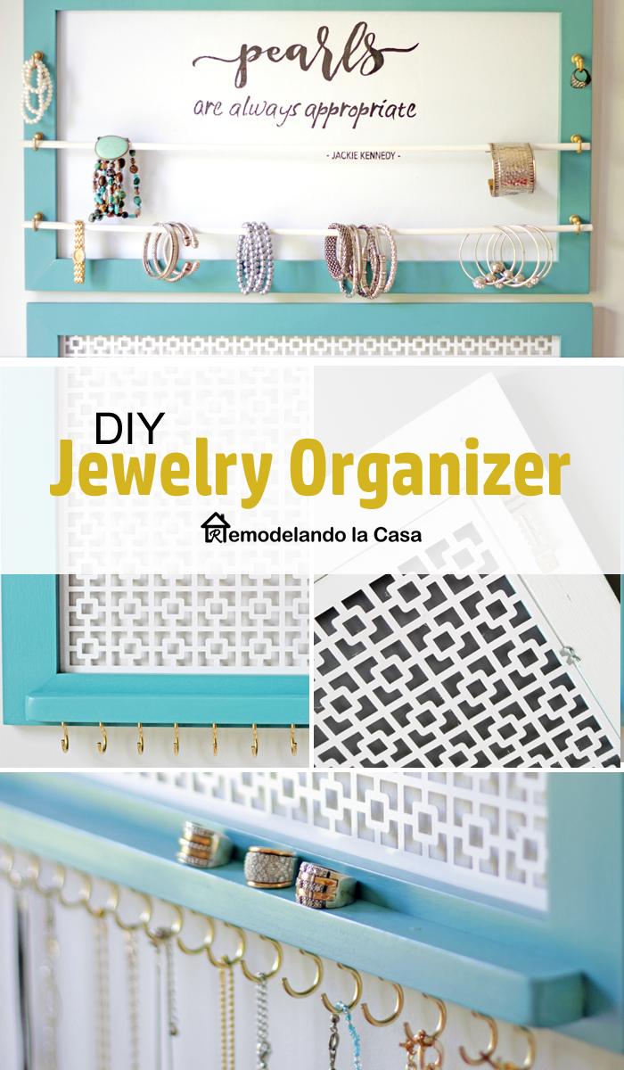 DIHWorkshop jewelry organizer with radiator cover