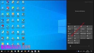 Gambar ilustrasi tampilan notifikasi di windows 10