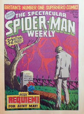 Spectacular Spider-Man Weekly #352, the death of Aunt May