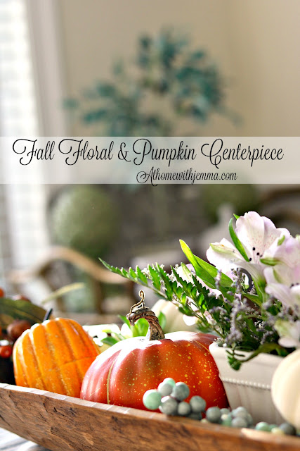 floral, fall, pumpkins, dough, bowl, styling, decorating, athomewithjemma.com
