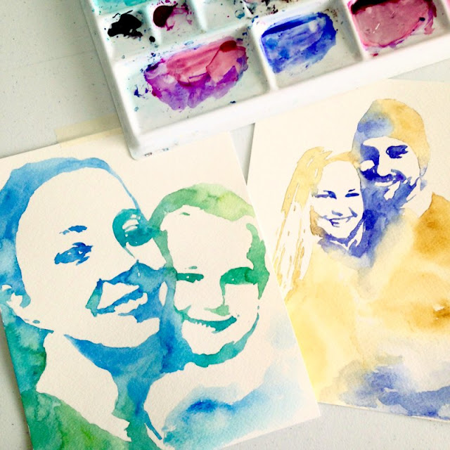 Custom Watercolor Portrait by Elise Engh: Grow Creative Shop