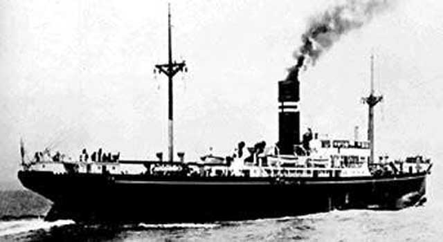 Japanese freighter Takao Maru, sunk on 5 March 1942, worldwartwo.filminspector.com