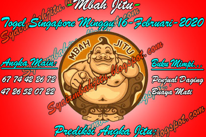 Syair Mbah Jitu Togel SGP Minggu 16 Februari 2020