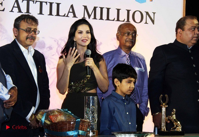 Sunny Leone Stills at The Atilla Million Race Event