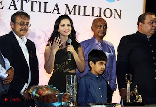 Bollywood Actress Model Sunny Leone Stills at The Atilla Million Race Event  0011.jpg